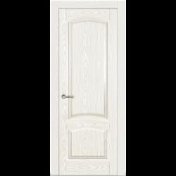 Межкомнатная дверь Александрит глухая белый ясень